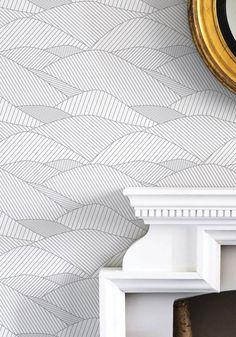 10 idées de papier peint graphique - Visit the website to see all pictures http://www.crdecoration.com/blog-decoration/decoration/10-idees-papier-peint-graphique