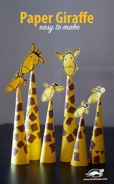 Paper Giraffes – so easy to make Basteln mit Papier - Tiere basteln - diesmal Giraffen. Paper Giraffes – so easy to make Basteln mit Papier - Tiere basteln - diesmal Giraffen. Animal Crafts For Kids, Paper Crafts For Kids, Toddler Crafts, Hobbies And Crafts, Projects For Kids, Diy For Kids, Easy Crafts, Paper Animal Crafts, Children's Arts And Crafts