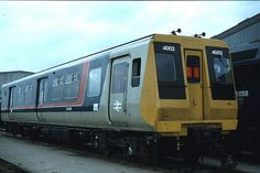 Class 445 prototype Emu No 4002 stored at Clapham Junction in the Sadly was not Preserved. Electric Locomotive, Steam Locomotive, National Rail, Rail Transport, Railway Posters, British Rail, Electric Train, Door Design, Concept Cars