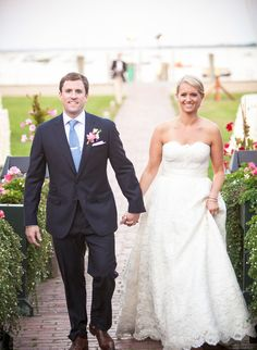 Beautiful Blooms: Lush Pink and Green Flowers for a Nantucket Wedding