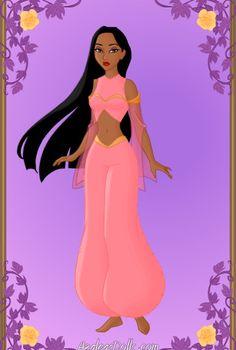Arabian Nights: Pocahontas 02 by on DeviantArt Princess Pocahontas, Disney Princess Fashion, Disney Pocahontas, Mermaid Disney, Princess Art, Disney Style, Cool Cartoons, Disney Cartoons, Disney Parody