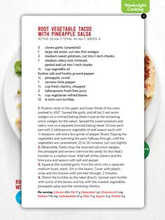 I saw this in the julaug 2017 issue of food network magazine http feb 2017 recipe cards food network magazine vegetarian menu forumfinder Choice Image
