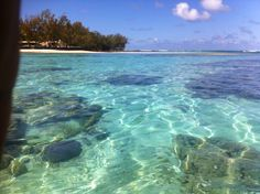 Clear waters.. Mauritius
