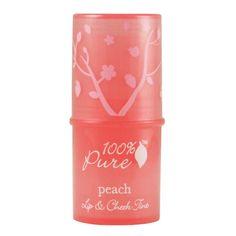 100% pure peach lip and cheek tint