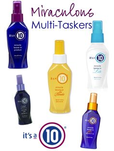 Miraculous Multi-Taskers: It's a 10 Miracle Leave-In Sprays