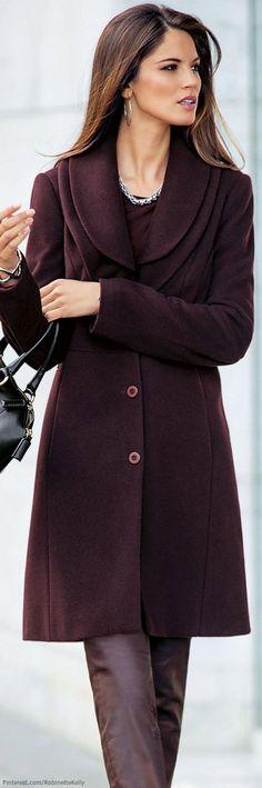 Madeleine - Aubergine Coat