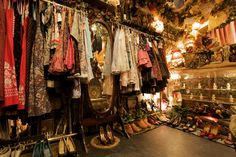 Grimoire, an amazing clothing and antique shop in Tokyo. indoors closet vanity bedroom