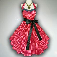 Bunny Vintage Red & White Polka Dot 50s Pin up Rockabilly Swing Dress Full Swing Skirt Plus Size 18 20 22 by SiamSmileStylist on Etsy https://www.etsy.com/listing/175847260/bunny-vintage-red-white-polka-dot-50s