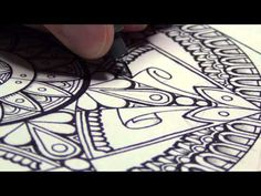 Zendalas- How to Draw a Mandala Zentangle Style - YouTube...This is a great design idea for a round stone...great tutorial!!