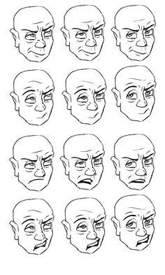 Eye Roll Expression Study by cartoonstudy on DeviantArt