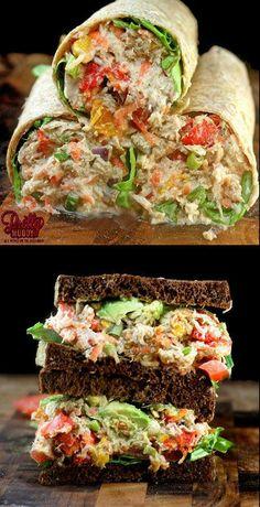 "Loaded Chicken Salad with Garlic Greek Yogurt Ranch ""Mayo""! #SavorySunday"