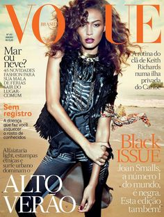 Joan Smalls by Henrique Gendre for the cover of Vogue Brazil January 2013
