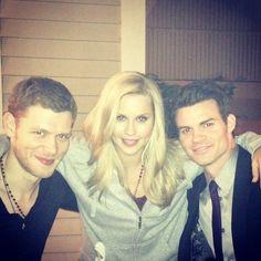 The Original Siblings: Klaus, Rebekah, & Elijah via Claire Holt's twitter #tvd #originals