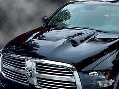 Dodge Ram Type-S Dual-Functional Ram Air Hood Fiberglass Dodge Ram 1500 Accessories, Ram Accessories, Cool Truck Accessories, 2017 Dodge Ram 2500, Dodge 1500, 2018 Dodge, Ram Trucks, Dodge Trucks, Dodge Cummins