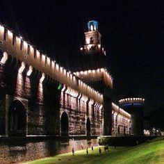 Castello Sforzesco nel Milano, Lombardia