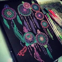 Art by Shantall Alam — Dream Wonderland Mehandi Designs Images, Mehndi Art Designs, Henna Tattoo Kit, Henna Pen, Gel Pen Art, Gel Pens, Mandala Drawing, Mandala Painting, Tinta Neon