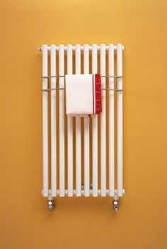 Transform one of our reclaimed radiators into a chic eye-catching display (and a handy teatowel holder!) with a lick of paint and a feature wall. Towel Radiator, New Kitchen, Kitchen Ideas, Heated Towel Rail, Kitchen Towels, Tea Towels, Kitchen Radiators, Home Kitchens, Home Appliances