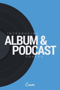 New! Introducing Album and Podcast covers! See them on our Pinterest board: http://www.pinterest.com/canva/canva-layouts-album-cover/ Start designing https://www.canva.com/