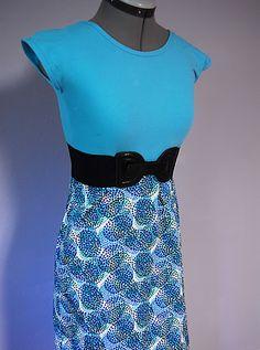 t-shirt refashion into a skirt dress
