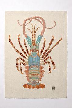 are you kidding me? beautiful Palinuridae rug!