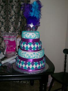 masquerade 15th cake