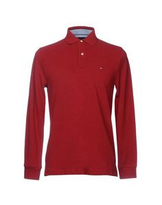TOMMY HILFIGER Men's Polo shirt Maroon S INT