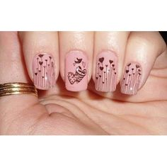 Find images and videos about pink, nails and nail art on We Heart It - the app to get lost in what you love. Fancy Nails, Love Nails, How To Do Nails, Pretty Nails, My Nails, Pink Nails, Heart Nail Art, Heart Nails, Nail Polish Designs