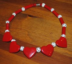 Vintage Flying Colors Heart Necklace by TheBouncingFrogs on Etsy