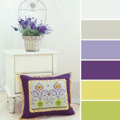 Весне дорогу: 15 вдохновляющих цветовых палитр от мастеров портала - вышитая подушка