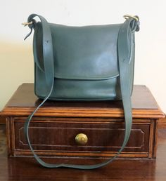 Coach Fletcher Bag Green Leather Shoulder Bag- Very Good Condition by…
