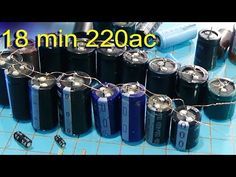 Free Energy How To Make Capacitor Bank For Free Energy lighted the led - YouTube