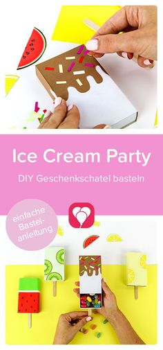 Diy Ice Cream, Ice Cream Party, Diy Gift Box, Small Gifts, Cute Gifts, Your Child, Children, Kids, Have Fun