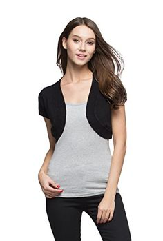 Women's Cardigans - Sofishie Trendy Short Sleeve Shrug Open Cardigan *** Check out this great product. (This is an Amazon affiliate link)