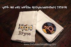 The Houser House: Quick Machine Applique Tutorial