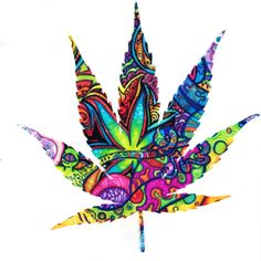 #weed #leaf #colourful