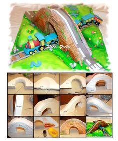 bridge on a cake