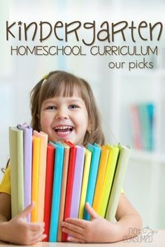 My kindergarten homeschool philosophy is this: keep it simple and develop strong basics. This selection of kindergarten homeschool curriculum does exactly that!