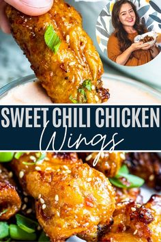 Cook with me on YouTube! These Sweet Chili Chicken Wings are super crispy and prepared in the Ninja Foodi air fryer for easy clean up, plus ready in only 30 minutes. This game day or party appetizer will be gone before you know it (yeah these wings are that good)!