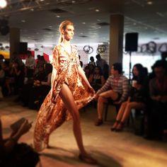 #SneakPeek of @kajdesignsLIVE #blueprint runway show with @estuaryPR. #Kaftan in motion.