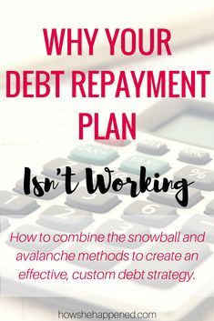 Combine debt repayment strategies to maximize your income, confidence, and savings. Debt Repayment, Debt Payoff, National Debt Relief, Tax Debt, Tips Online, Get Out Of Debt, What You Can Do, Finance Tips, Personal Finance