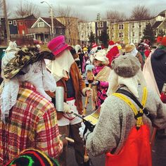 Everyday i'm mummerin' photo: candicedoeseverything Mummers Parade, Newfoundland And Labrador, Songs To Sing, Throw Pillow Cases, Beautiful Islands, Back Home, Folk Art, North America, Winter Hats