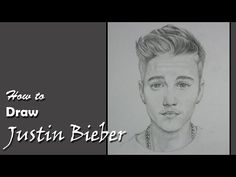 Drawing Justin Bieber with Pencil - YouTube