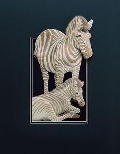 Detailed 3D Paper Sculptures by Calvin Nicholls