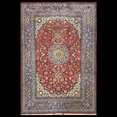 Isfahan Rug - 22145 | Persian Formal  Origin Persia, Circa: 1940  #antiquerug #rahmanan #persianeug #antiquerugstudio #nyc,