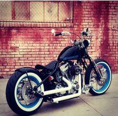 Custom bobber motorcycle
