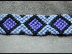 ► Friendship Bracelet Tutorial 9 - Intermediate - Diamonds (ORIGINAL PATTERN)