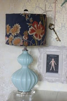 Pottery barn pillow cover into a lampshade