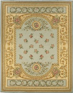 The Aubusson Collection from Peel and Company is Innovative, and made of elegant designs based on early 18th Century French Aubussons. This collection features delicate color schemes and sophisticated original patterns. These stately hand-woven rugs are made of 100% wool.