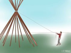 how to build a teepee in your yard big enough to build a fire in