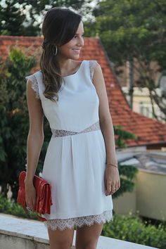 Little White Dresses, Lovely Dresses, Summer Outfits, Casual Outfits, Cute Outfits, Vestido Casual, Yes To The Dress, Petite Outfits, Elegant Outfit